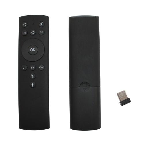 2.4GHz Fly Air Mouse Беспроводной пульт дистанционного управления с управлением голосом 6-осевое распознавание движения ИК-обучение с адаптером USB-приемника