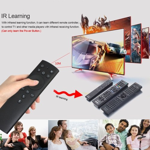2.4GHz Fly Air Mouse Wireless Remote Control w/ Voice Control 6-axis Motion Sensing IR Learning with USB Receiver Adapter