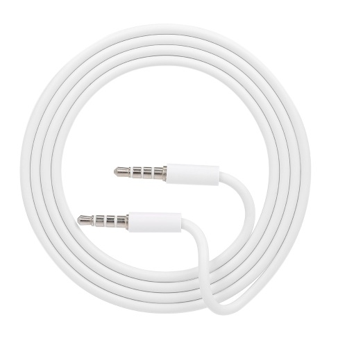 3.5mm Jack Auxiliary Audio Cable Male to Male Stereo Audio Extension Cord,White