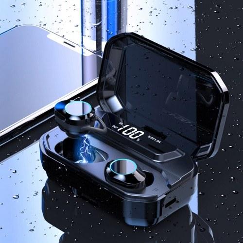 G02 TWS-Wireless BT5.0 Cuffie Mini In-Ear Sport Auricolari stereo Auricolari IPX6 Impermeabile con scatola di ricarica ricaricabile multifunzione 3300mAh