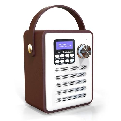 DAB/DAB+ Digital Radio Wireless Bluetooth Speakers MP3 Player AUX IN TF U Disk Reading FM Radio with Portable Handle Alarm Clock Setting
