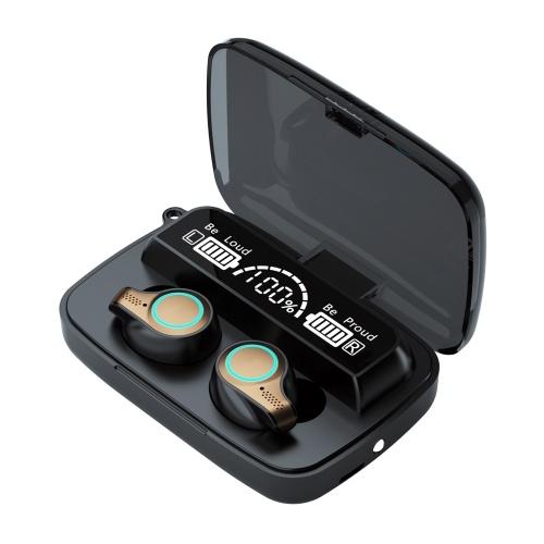 TWS5.1 BT-angeschlossener Headset Kopfhörer Kopfhörer Ohrenschützer M-18 LEDs Berührungsempfindlicher binauraler Lautsprecher IPX7 Wasserbeständigkeit Eingebaute 2000-mAh-Akkus Aufbewahrungsbox mit hoher Kapazität Mini Portable Present Gift Holiday Festival