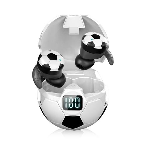 5.1 BT беспроводные наушники футбольная гарнитура сфера наушники светодиоды цифровой дисплей чувствительный сенсорный бинауральный вызов