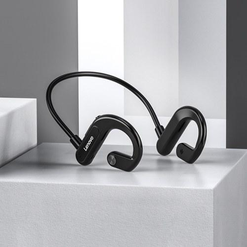 Lenovo X3 Wireless Bluetooth 5.0 Kopfhörer Externer hängender Kopfhörer mit Mikrofon Ohrhaken Sport Headset IPX5 Wasserdichte Luftleitung Binaurale Hörmuschel Schmerzfrei
