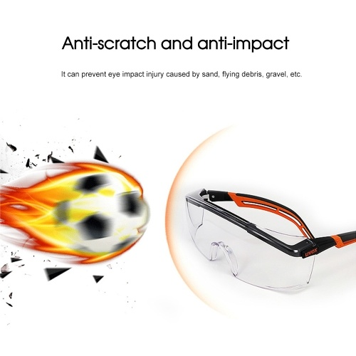 UVEX / 9064185 1 Pair of Safety Glasses Goggles Eyewear UV Protection Anti Dust Windproof Anti Fog Coating Eye Wear for Eye Protection