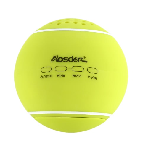 Original Aosder JH-WQBT3 Tennis Bluetooth Speaker Wireless Stereo Sound Box with TF Card Slot LINE-IN Green for iPhone6 Plus 6 Samsung Galaxy S6 Note 5 Notebook Tablet