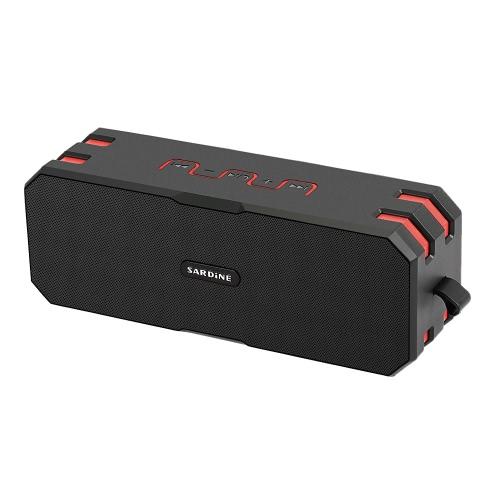 Sardine F4 sans fil BT Outdoor Speaker AUX-IN TF carte IP65 étanche à la poussière mains libres avec micro pour iOS / Android téléphones intelligents Autres appareils BT