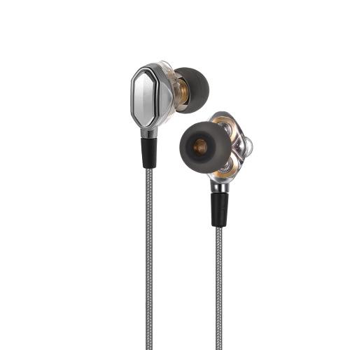 3,5 мм HiFi наушники-вкладыши Наушники Dual Dynamic Design Driver в линии Гарнитуры управления для iPhone Samsung LG смартфоны Компьютеры