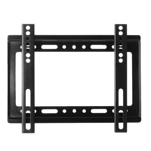 """14 """"~ 42"""" Ecran HDTV Wall Mount TV Flat Panel Fixed Mount Support d'écran plat avec Max 200 * 200 VESA Compatibilité et Max.55lbs / 25KG Capacité de chargement pour LCD LED Plasma TV"""