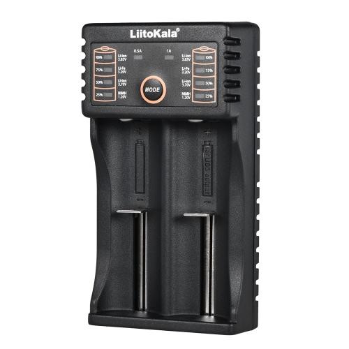 Carregador de bateria inteligente Liitokala Lii-202 para baterias recarregáveis de lítio NiMH de 1,2V / 3.7V / 3.2V / 3.85V AA / AAA 18650/18490/18350/16340/14500/10440