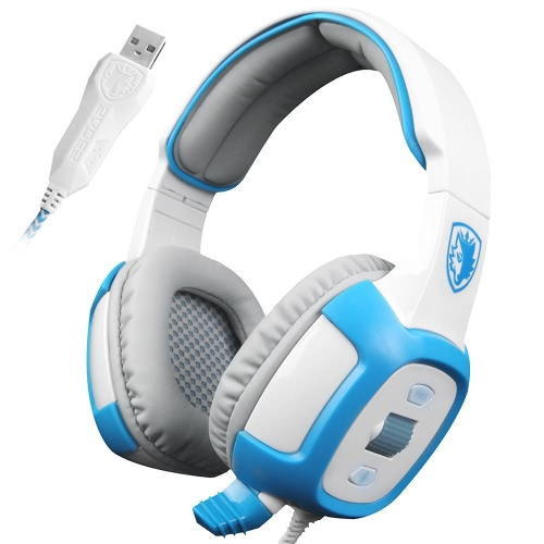 SADES SA906 USB PC Gaming Headset 7.1 Surround Sound Stereo