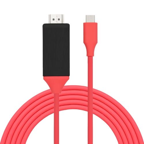 MiraScreen L9 6.6FT Тип C до HD Видеокабель USB C к HDTV-кабелю UHD 4K USB 3.1 Тип C Мужской до HD Мужской адаптер для MacBook Samsung S8 LUMIA 950