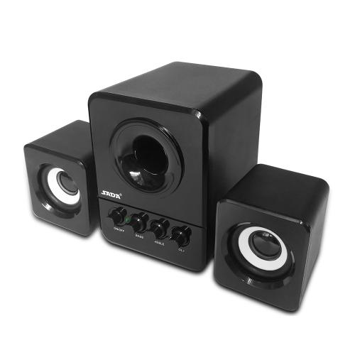 SADA D-203 USB Wired Combination Speaker Computer Speaker Bass Stereo Music Player Subwoofer Sound Box for Desktop Laptop Notebook Tablet PC Smart Phone