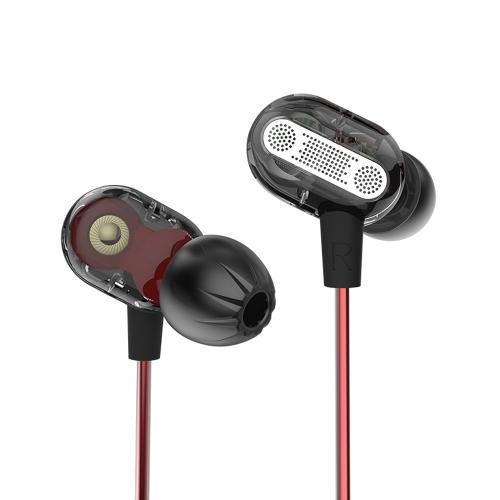 KZ ZSE 3,5 milímetros de fone de ouvido com fone de ouvido com driver duplo dinâmico com microfone