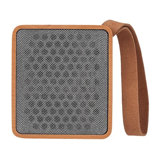 Alto-falantes de madeira maciça BT Alto-falante portátil BT 4.2 + EDR Caixa de som Speaker Touch Button Enhanced Bass w / Lanyard