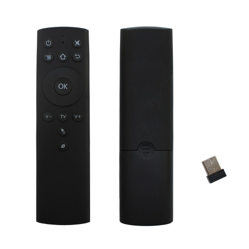 2.4 GHz Fly Air Mouse Controle Remoto Sem Fio 6-axis Sensoriamento de Movimento IR Aprendizagem com Adaptador Receptor USB para Smart TV Android TV Box Projetor