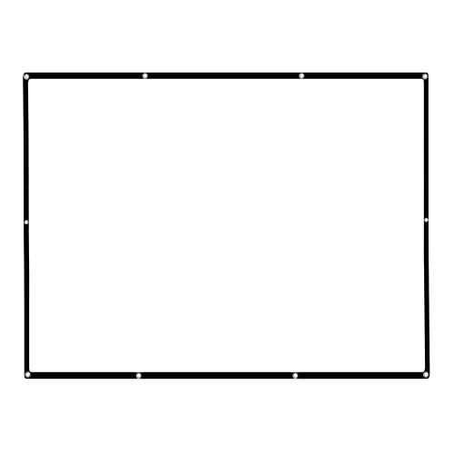 77インチポータブルプロジェクタースクリーンHD 16:9ホワイト77インチ対角プロジェクションスクリーンFoldableホームシアターウォールプロジェクション屋内用屋外
