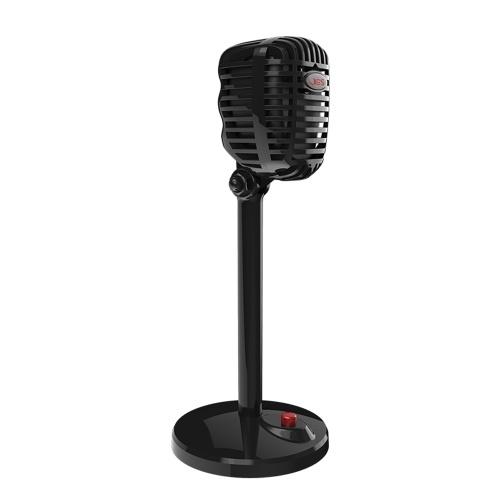JIES Retro Kondensatormikrofon Wired Mic 3.5mm Port Game Singing Mic für PC Computer
