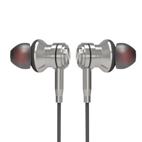 Crownsonic MF-OK206L 3,5 mm Dynamischer Kopfhörer Sport Headset DSP Geräuschunterdrückung mit Mikrofon Sweatproof mit magnetischem HiFi-Kopfhörer