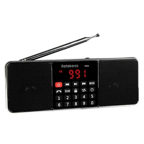 Retekess TR602 FM / AM-Radio Multiband-Digitalradio-Empfänger Bluetooth-Lautsprecher MP3-Player Kopfhörerausgang AUX IN Unterstützung TF-Karte U Laufwerkslesung