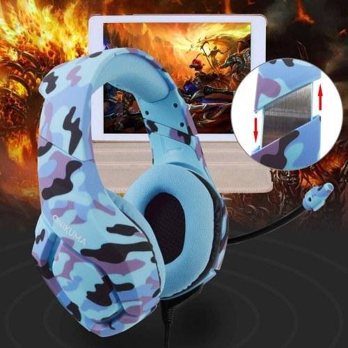 ONIKUMA K1-B 3,5 мм игровая гарнитура с наушниками-вкладышами с микрофоном с шумоподавлением Mute и регулятор громкости для PS4 Новый ноутбук Xbox One PC