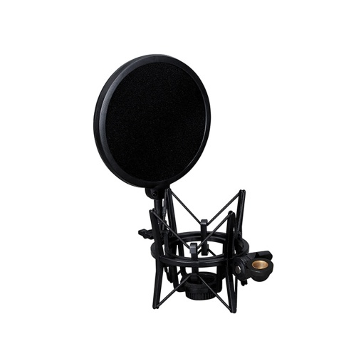 SH-100 Microphone Professional Shock Mount Portable Mic Shock Holder for Long Thread Microphones
