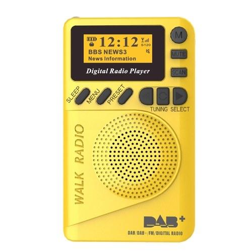 P9 Mini Pocket DAB / FM Digital Radio FM Digital Demodulator with LCD Display Portable MP3 Player TF Card Slot