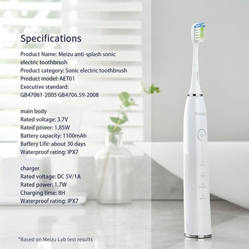 MEIZU AET01 Electric Toothbrush Rechargeable Anti-splash Sonic Electric Toothbrushes Tooth Brush