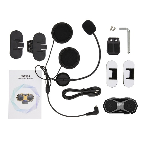 WT005 Motorcycle Bluetooth Intercom Helmet Headset