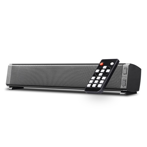 Bluetooth SoundBars 2*5W Portable Wired and Wireless Mini Soundbar Speakers for Home Theater Surround Sound with Remote Control