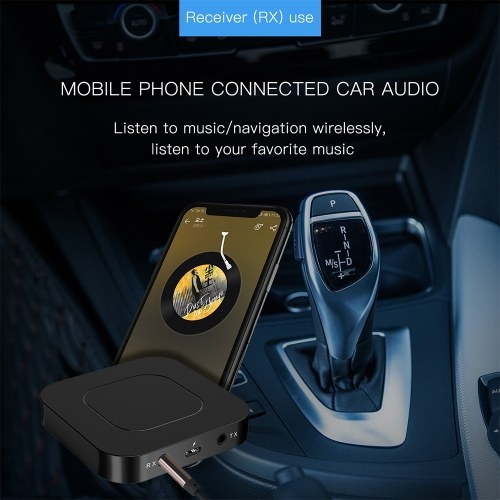 BT13 Bluetooth 5.0 Transmitter Receiver 3.5MM AUX Stereo for PC TV Car Headphones Wireless Adapter