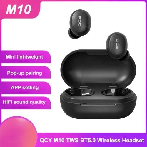 QCY M10 TWS BT5.0 Fone de ouvido sem fio Pop-up Emparelhamento de APP Configuração Estéreo de música Esporte fones de ouvido