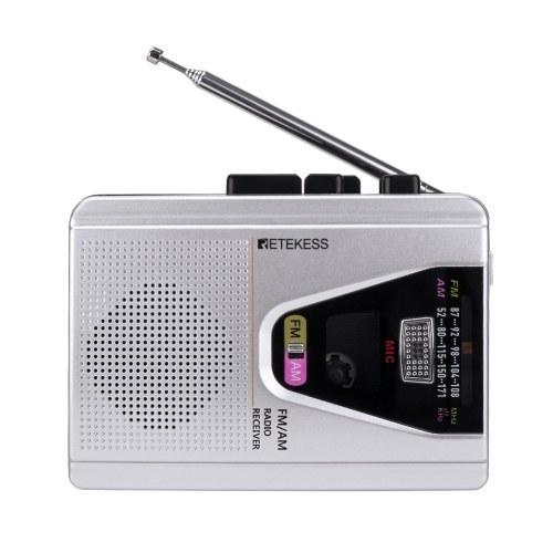 Retekess TR620 FM AM Портативный магнитофон кассетный плеер рекордеры кассетный рекордер воспроизведение ленты режим цикла