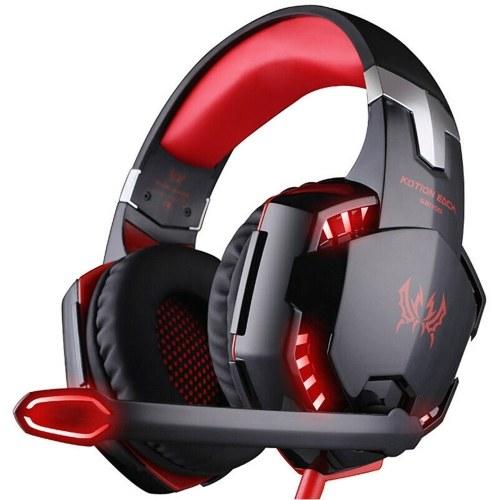 KOTION EACH G2000 Auriculares para juegos con micrófono PC Gamer Auriculares estéreo de 3,5 mm con cancelación de ruido Orejeras para computadora portátil de escritorio