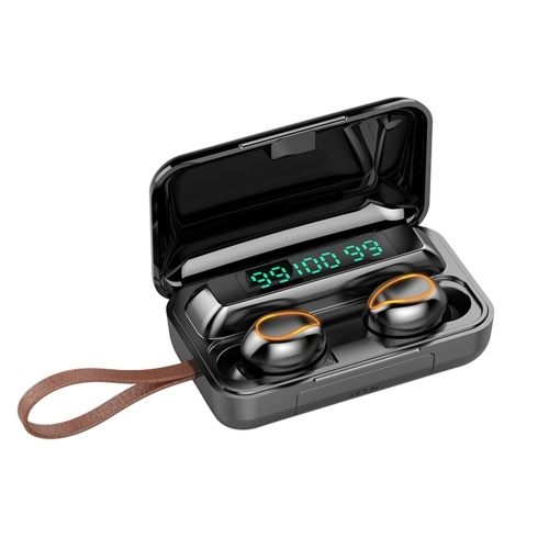 F9-5 True Wireless Headphones Bluetooth 5.0 TWS Earphones com Mic Sports Headsets Touch Control Music Earbuds para telefones