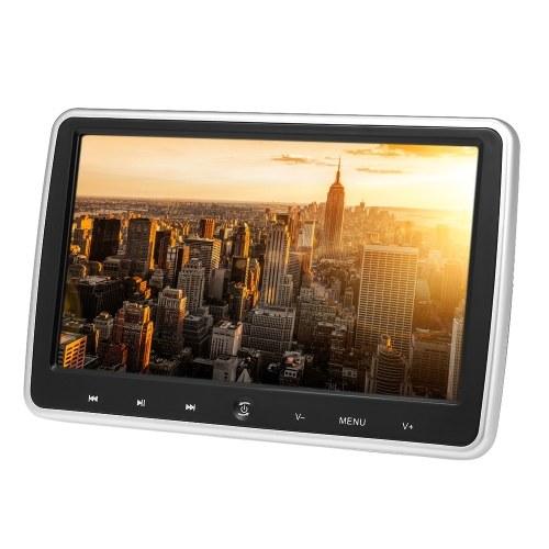 JD-1018D 10,1-дюймовый автомобильный подголовник DVD-плеер Автоматический монитор Сенсорная кнопка Встроенные динамики Поддержка игрового диска FM IR HD Вход AV IN OUT Слот для карты памяти
