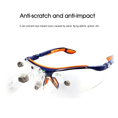 UVEX 9160265 Goggles Protective Glasses UV Protection Adjustable Mirror Legs Safety Glasses Blue with Orange,1 Pair