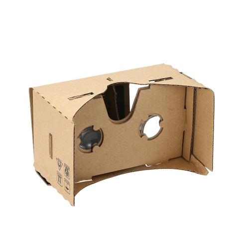 Lunettes 3D Halloween bricolage carton Google lunettes de vision de réalité virtuelle VR Téléphone Mobile 3D pour écran 5.5
