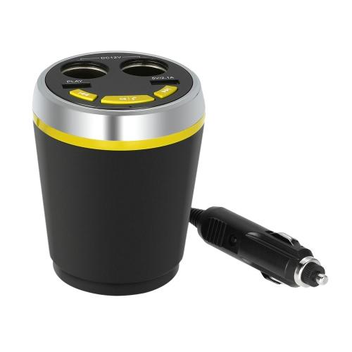 FM-передатчик BT MP3-плеер Два прикуривателя громкой автомобильный комплект USB зарядное устройство Поддержка TF карта U диск воспроизведения музыки