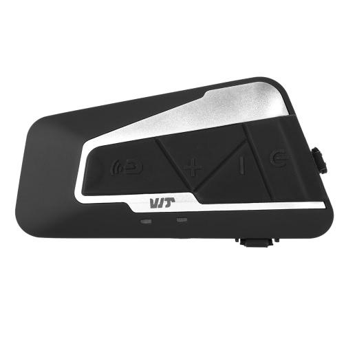 T9S Casque de moto Casque Bluetooth Interphone 1000m Interphone Distance FM Radio mains libres avec micro IPX7 étanche à la poussière