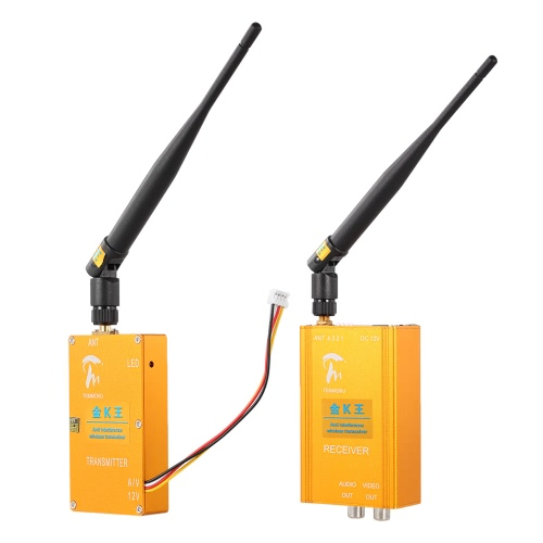 1.3GHz 6000mW Беспроводной приемопередатчик Аудио и видео передатчик Приемник AV Отправитель Anti Interference 800m Расстояние передачи 4 канала для камеры мониторинга оборудования