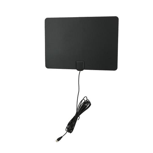 Antenne de TV numérique amplifiée par double ultra mince de 80 millimètres d'intérieur d'intérieur avec l'amplificateur de signal détachable CJH-198A