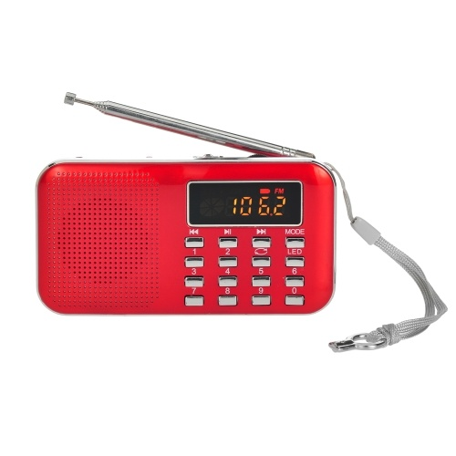Y-896 Mini FM Radio Digital Portable 3W Stereo Speaker MP3 Audio Player High Fidelity Sound Quality