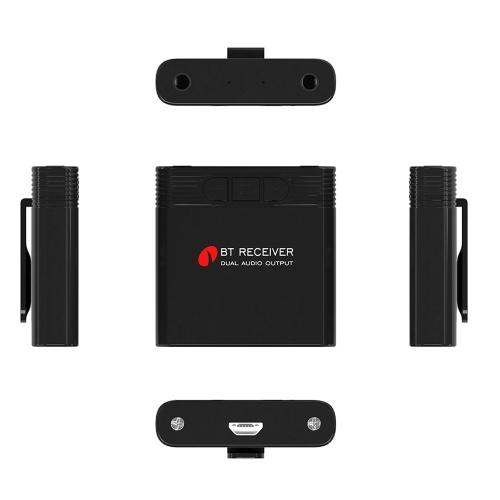 Image de Récepteur Audio Bluetooth B8 Double Sortie Bluetooth 4.1 Adaptateur Aux 3.5mm pour Haut-Parleur MP3