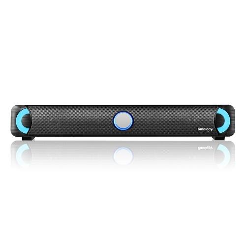 Smalody Bluetooth 4.2 Soundbar LED Speaker