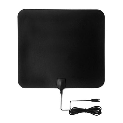 Antenna TV HD Ultra-sottile Antenna TV interna 50 Miglia Full HDTV con amplificatore di segnale F Convertitore IEC maschio