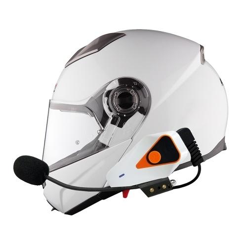 WT002 Мотоциклетный шлем Bluetooth Интерком Беспроводной домофон с наушниками 1000M Full-duplex Поддержка IPX5 Водонепроницаемый FM громкой связи с микрофоном для смартфонов