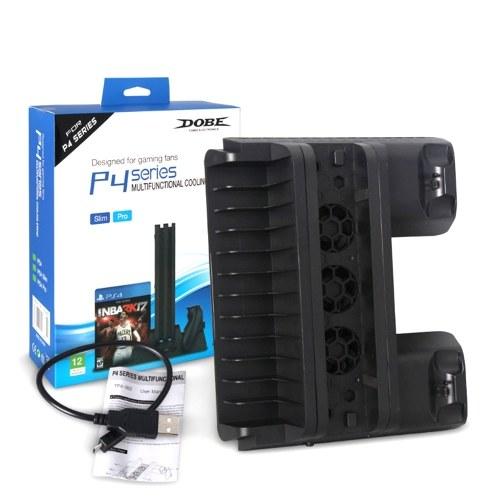 Enfriador PS4 SLIM PRO Soporte vertical de enfriamiento multifuncional