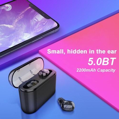 TWS Earbuds True Wireless Headphones Bluetooth 5.0 In-Ear Headset with Mic