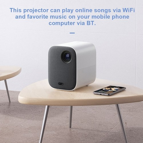 Xiaomi Mijia Youth Version Mini Projector 1920*1080 Support 4K Video 500 ANSI Lumens Full HD for Home Cinema